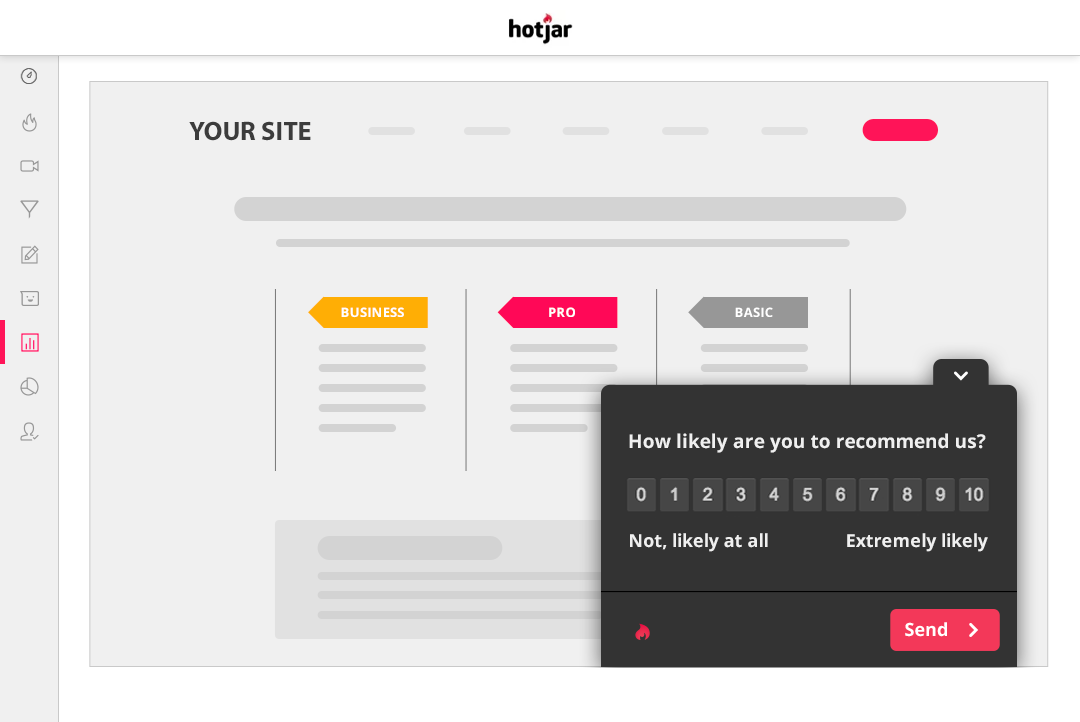 Hotjar survey tool