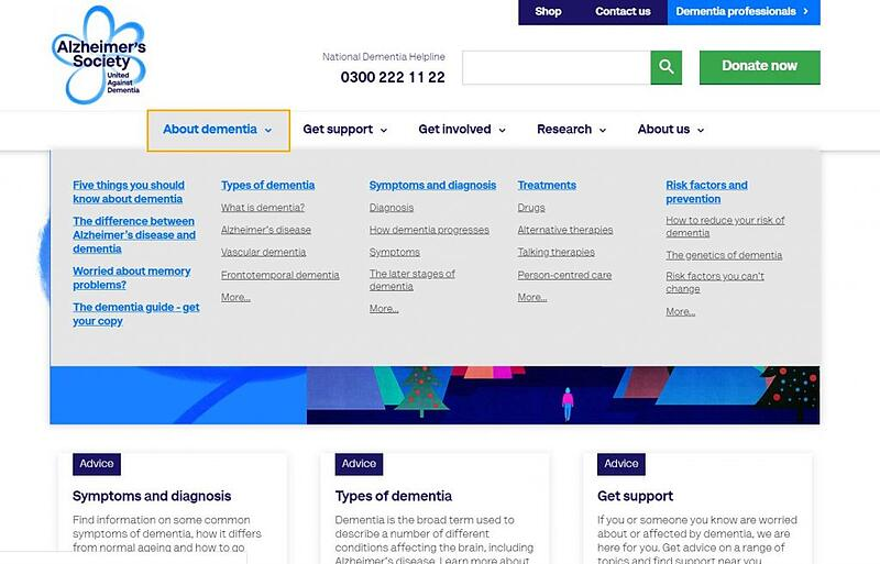 alzheimers society homepage