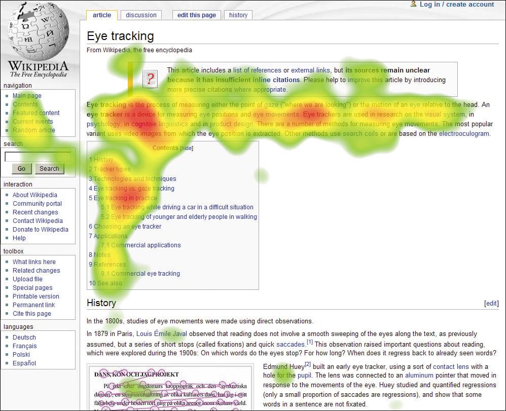 eyetracking heatmap
