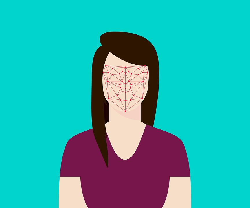 cartoon of facial recognition calibration