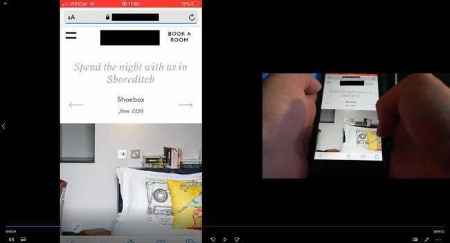 mobile remote testing - screen capture- anon